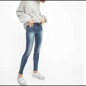 Blank NYC Lace-Up Skinny Classique Jeans